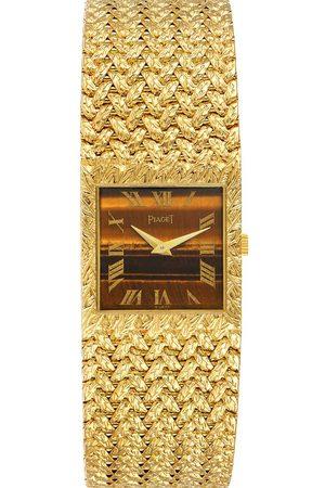 PIAGET Men Watches - Tiger Eye Stone 18k Yellow Gold Vintage 9352 Men's Wristwatch 23 MM