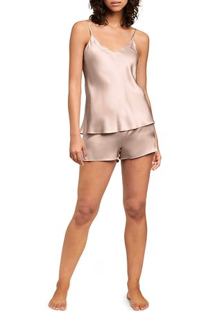 GINIA Women Camisoles - Silk V-Neck Cami