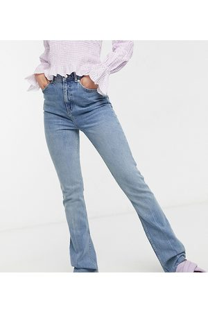 ASOS Women High Waisted - ASOS DESIGN Tall high rise '70's' stretch flare jeans in lightwash-Blues