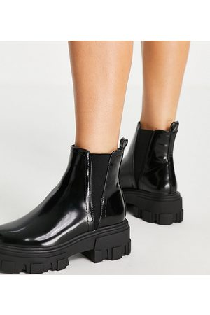 ASOS Women Chelsea Boots - Wide Fit Addy chunky chelsea boots in