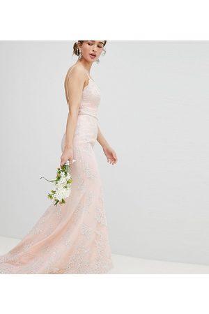 Chi Chi London Bridal Premium Lace Maxi Dress with Fishtail