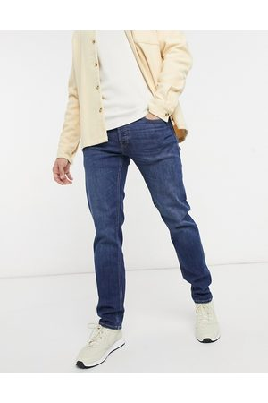 JACK & JONES Men Straight - Intelligence Mike relaxed fit jeans in mid wash-Blues