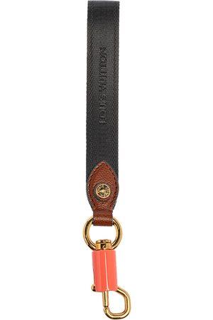 LOUIS VUITTON Tricolor Nylon Strap Key Holder