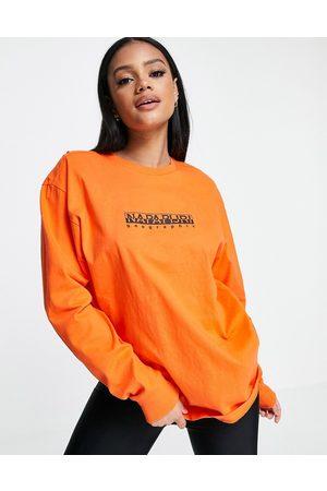 Napapijri Women Long Sleeve - Box long sleeve t-shirt in