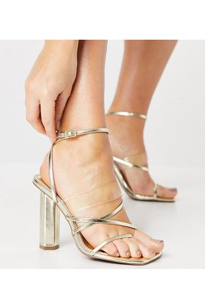 ASOS Women Heeled Sandals - Wide Fit Watermelon strappy heeled sandals in