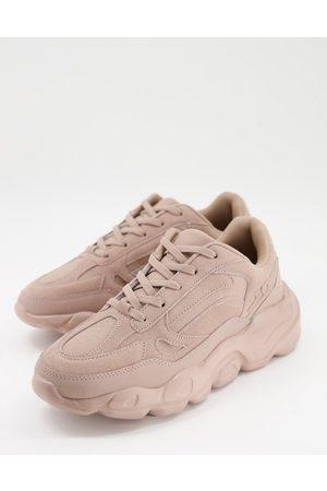 ASOS Faux suede sneakers with chunky sole in