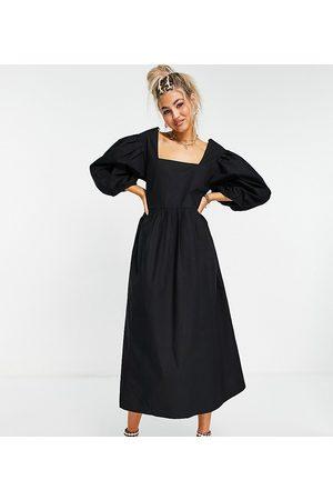 COLLUSION Oversize garden midi smock dress in