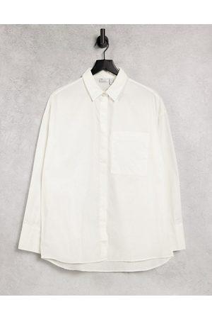 ASOS Long sleeve boyfriend shirt in cotton in