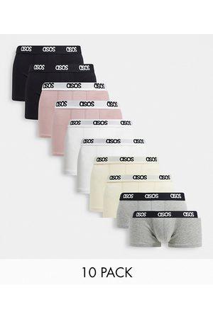 ASOS 10 pack short trunks-Multi