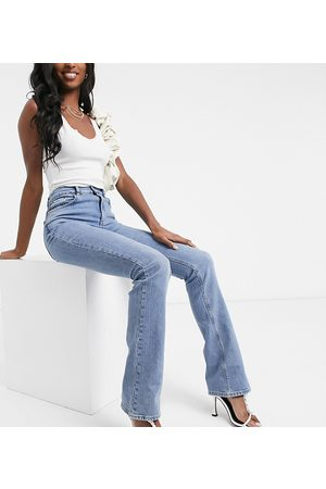 ASOS Women High Waisted - ASOS DESIGN Tall high rise '70's' stretch flare in midwash-Blues