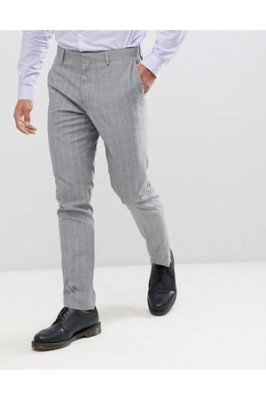 River Island Skinny fit wedding suit pants in check