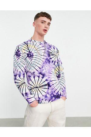 Vans Burst long sleeve tie dye t-shirt in
