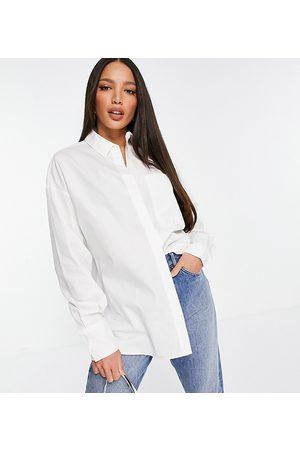 ASOS ASOS DESIGN Tall long sleeve boyfriend shirt in cotton in