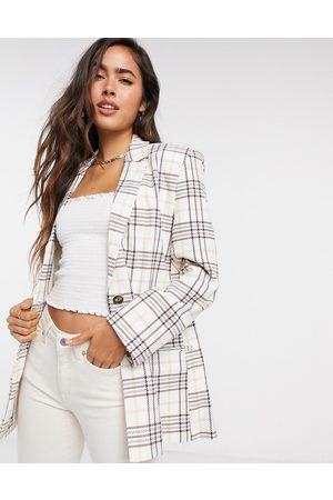ASOS Dad suit blazer in candy plaid-Multi