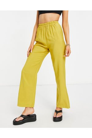 ASOS Relaxed suit sweatpants in chartreuse