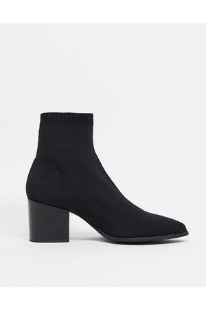 ASOS Heeled Chelsea sock boots with pointed toe in