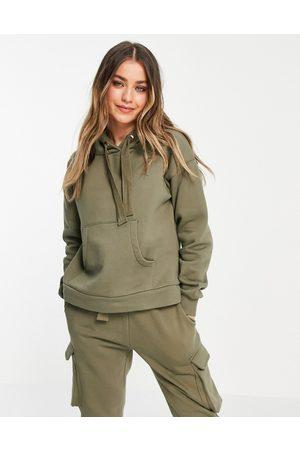 Chelsea Peers Lounge utility hoodie set in khaki