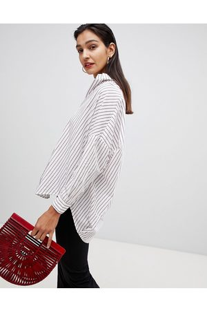French Connection Oversized StripeD Shirt-Multi