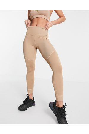 PUMA Studio Ribbed High waisted leggings in -Neutral