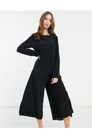 ASOS Long sleeve button back tea jumpsuit in