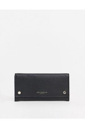 Paul Costelloe Leather wallet with snap detail in
