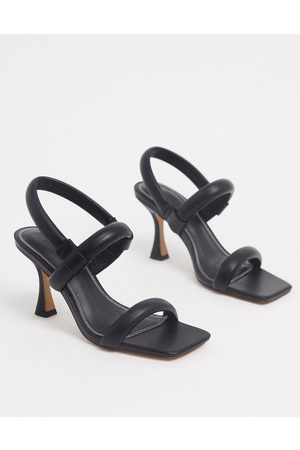 ASOS Hickory padded mid-heel sandals in