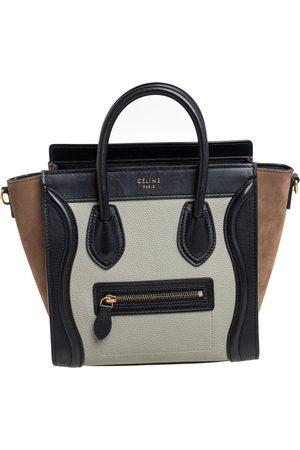 Céline Tri Color Leather and Nubuck Nano Luggage Tote
