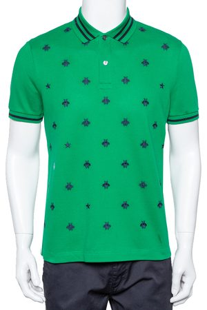 Gucci Cotton Pique Bee Embroidered Polo T-Shirt M