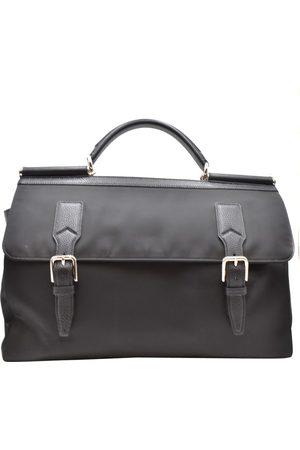 Dolce & Gabbana Dolce and Gabbana Nylon Leather Top Handle Bag