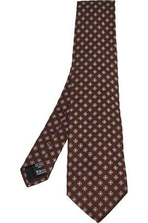 VALENTINO Men Neckties - Geometric Motif Jacquard Silk Tie