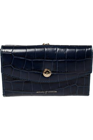 ASPINAL OF LONDON Crocodile Embossed Leather Bifold Wallet