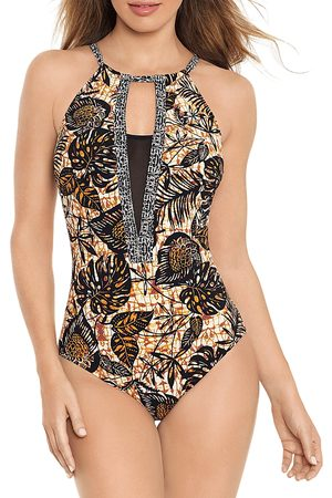 Amoressa by Miraclesuit Dijon Ghost Printed One Piece Swimsuit