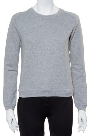 Saint Laurent Grey Cotton Crewneck Sweatshirt M