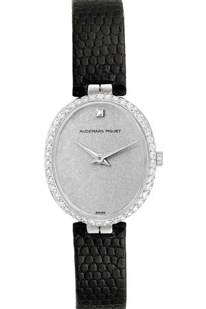 Audemars Piguet Women Watches - Diamonds 18k White Gold Vintage 7073BC Women's Wristwatch 26 x 23 MM