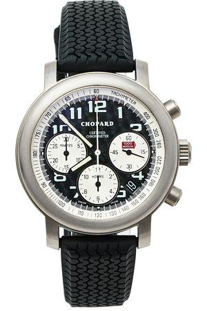 Chopard Titanium Happy Mille Miglia Chronograph 8407 Men's Wristwatch 40.5 MM