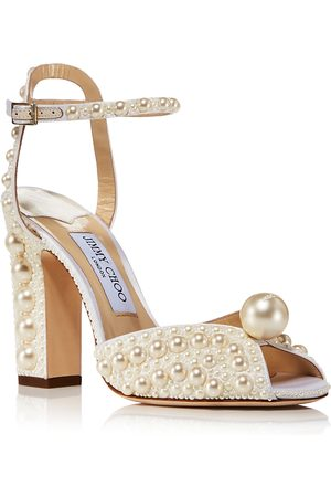 Jimmy Choo Women Heeled Sandals - Women's Sacaria 100 Embellished Block Heel Sandals