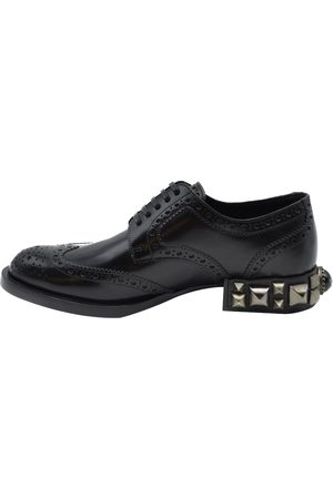 Dolce & Gabbana Dolce and Gabbana Leather Detail Derby Shoes Size EU 35
