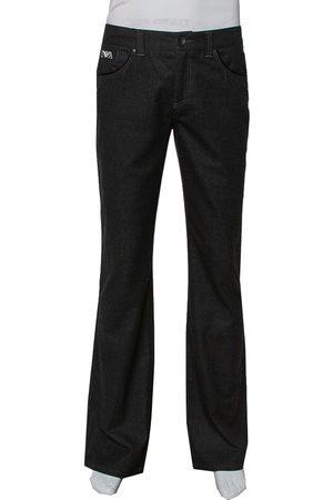 Emporio Armani Striped Twill Straight Leg Trousers M