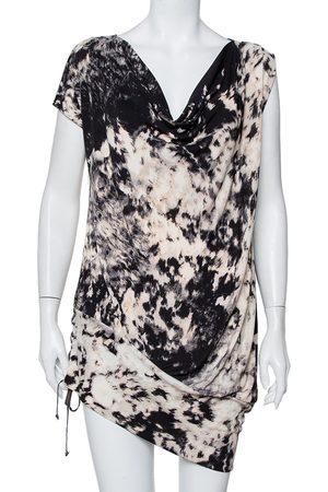 Roberto Cavalli Women Party Dresses - Abstract Printed Knit Tie Detail Mini Dress M