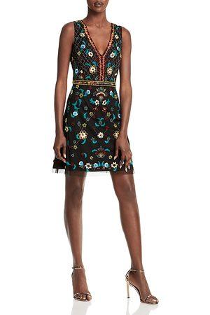 Aidan Mattox Bead & Sequin Embroidered Dress