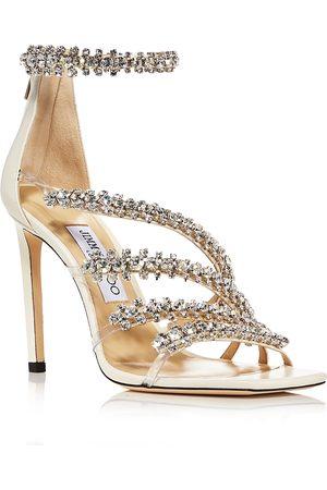 Jimmy Choo Women's Josefine 100 Crystal High Heel Sandals