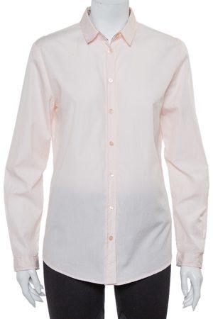 Burberry Brit Cotton Nova Check Trim Detail Button Front Shirt M