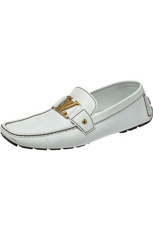 LOUIS VUITTON Leather Monte Carlo Loafers Size 44