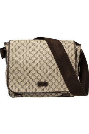 Gucci Women Purses - /Ebony GG Supreme Canvas and Leather Messenger Diaper Bag