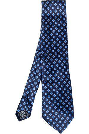 Gianfranco Ferré Navy Geometric Print Silk Traditional Tie
