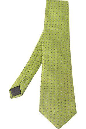 BRIONI Vintage Geometric Pattern Silk Traditional Tie