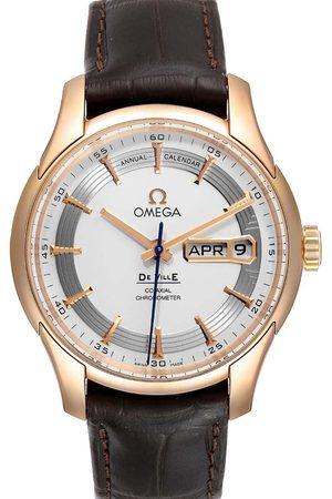 Omega 18k Rose Gold DeVille Hour Vision 431.63.41.22.02.001 Men's Wristwatch 41 MM