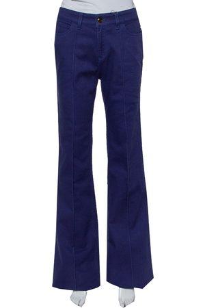 Gucci Navy Denim Paneled Flared Leg Jeans M