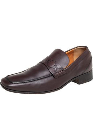 Gucci Leather Slip On Loafers Size 41