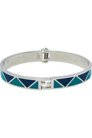 Fendi Women Bracelets - & Blue Enamel Silver Tone sta Cuff Bracelet